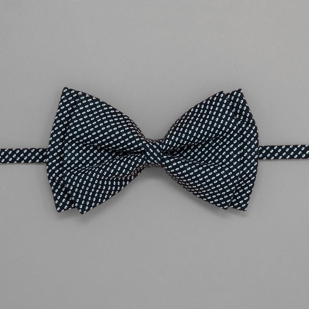 Old School Blue Geometric Bowtie
