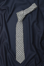 Regal Black Geometric Necktie