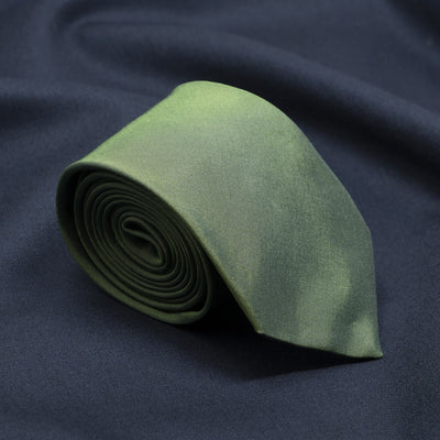 Regal Green Solid Necktie