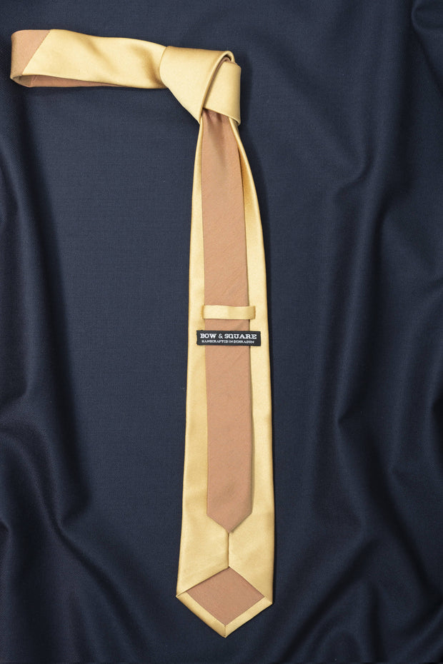 Regal Mustard Dual Shade Solid Necktie