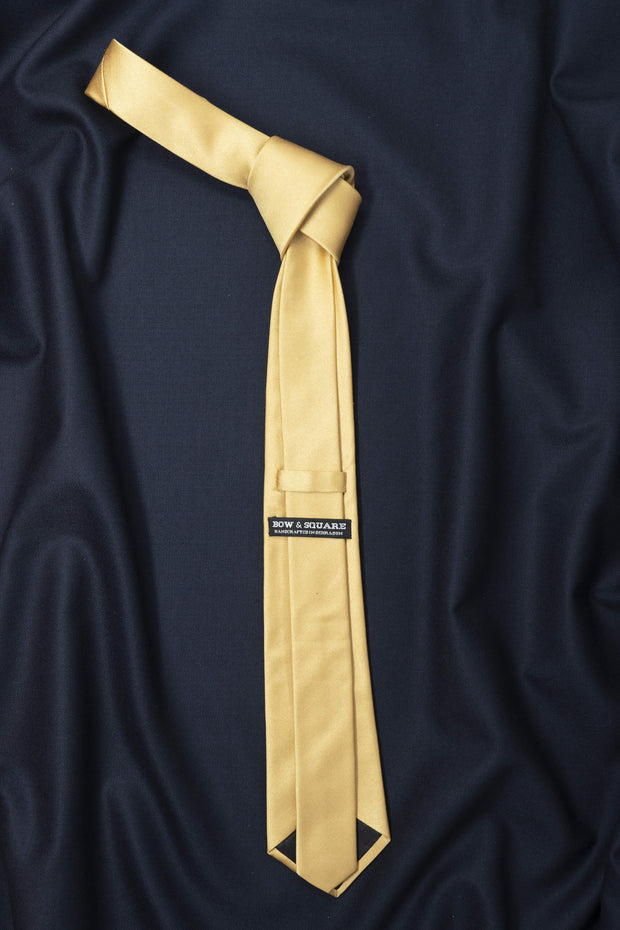 Regal Mustard Solid Necktie