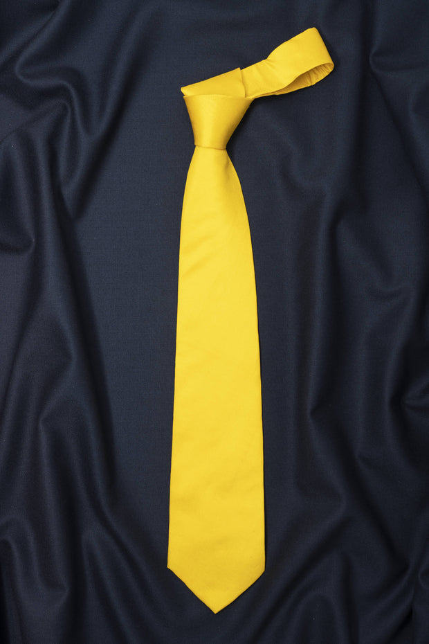 Regal Yellow Solid Necktie