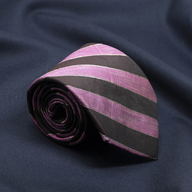 Regal Wine Striped Necktie