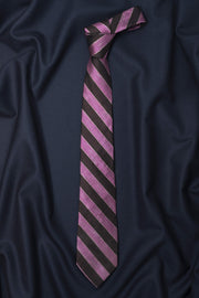 Regal Black Striped Necktie