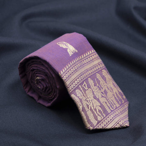 Regal Purple Abstract Necktie
