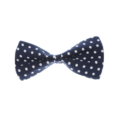 Old School Blue Polka Dot Bowtie