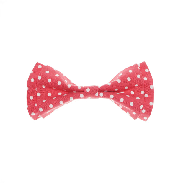 After 8  Pink Polka Dot Bowtie