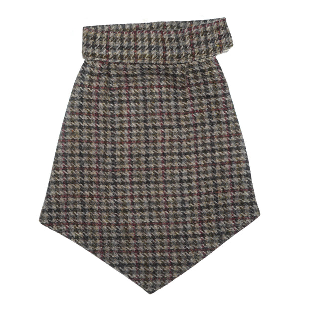 Old School Houndstooth Tweed Brown Cravat
