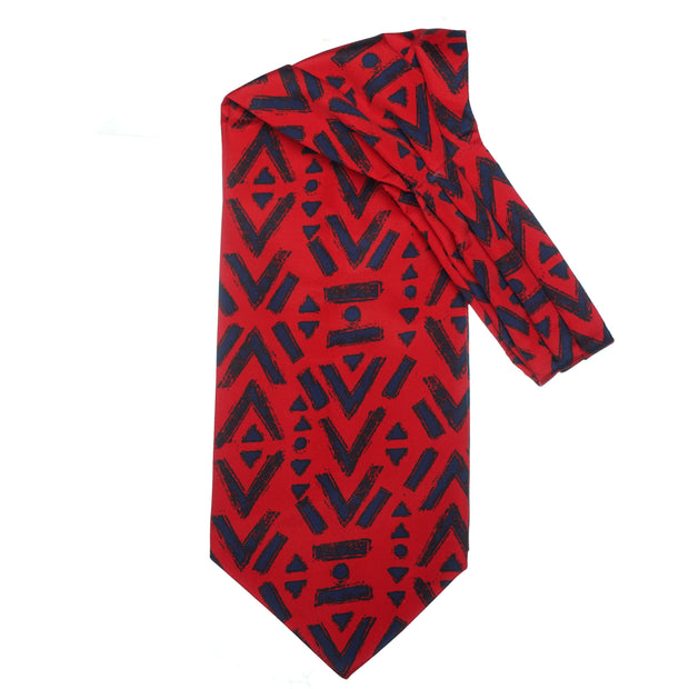 After 8 Geometric Red Cravat