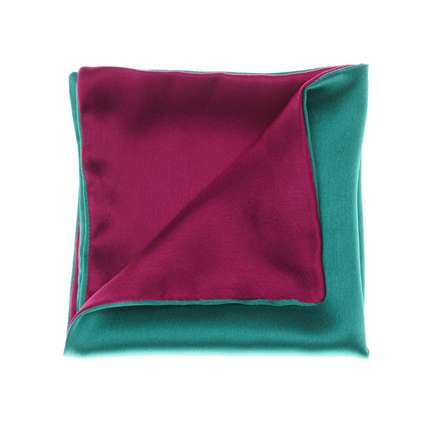 Regal Magenta - Green Pocket Square