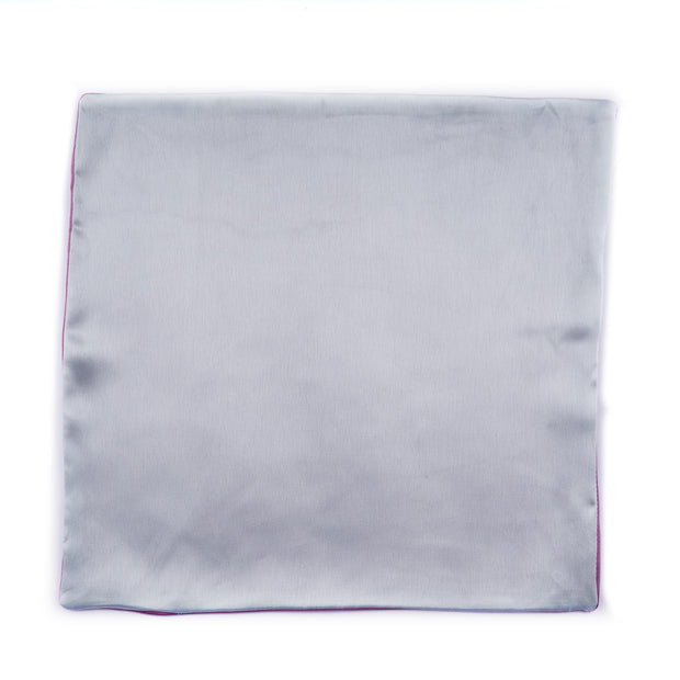 Regal Silver - Purple Pocket Square