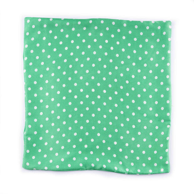 After 8 Polka Dot Green Pocket Square