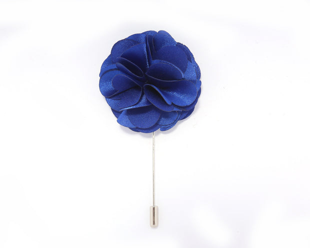Royal Blue Solid Carnation Lapel Pin