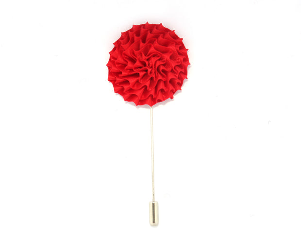 Red Solid English Daisy Lapel Pin