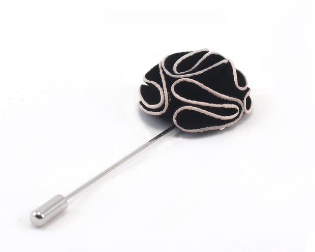 Black Solid Whitecap Lapel Pin