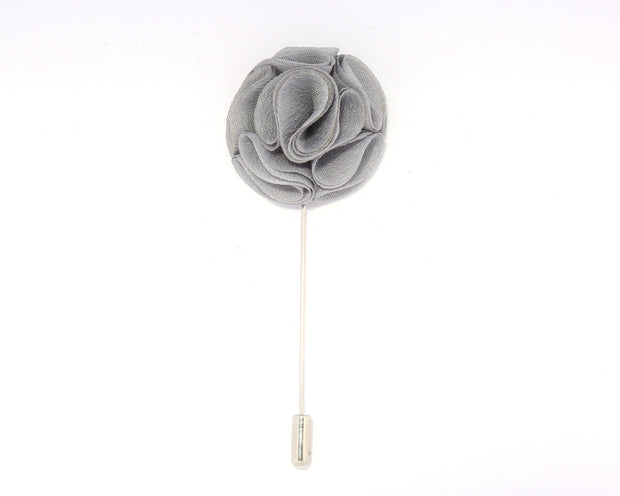 Fossil Grey Curlicue Lapel Pin