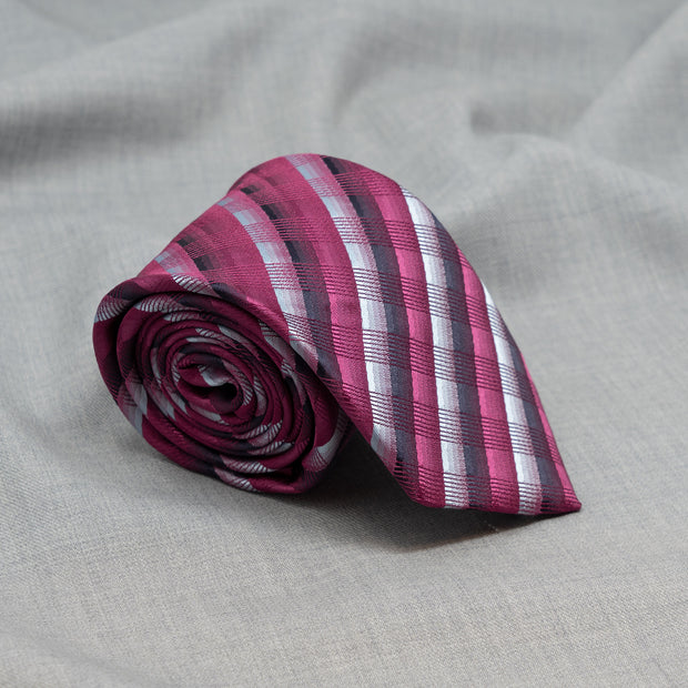 After 8 Pink Striped Necktie