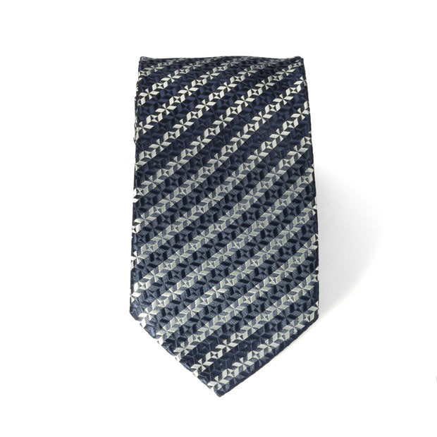 After 8 Blue Striped Necktie