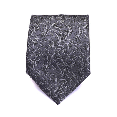 Town Hall Grey Abstract Necktie