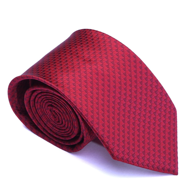 After 8 Red Geometric Necktie