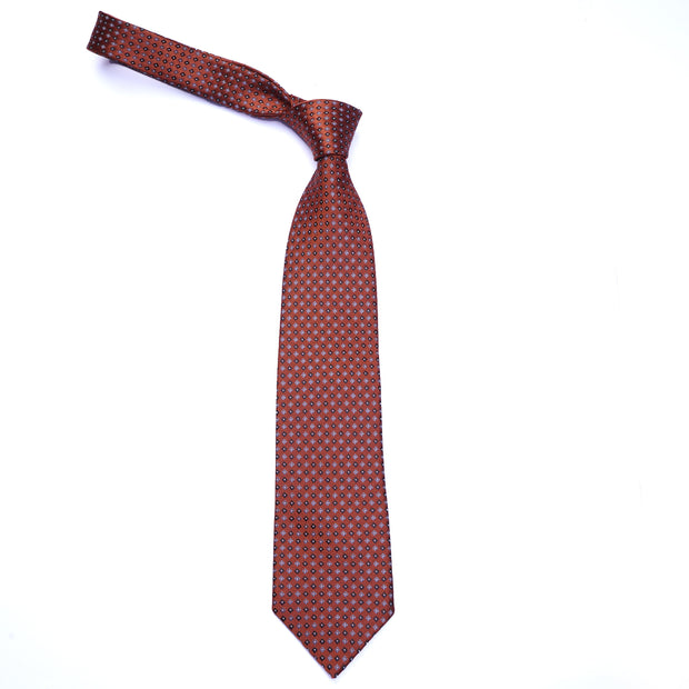 Sun & Sand Orange Geometric Necktie