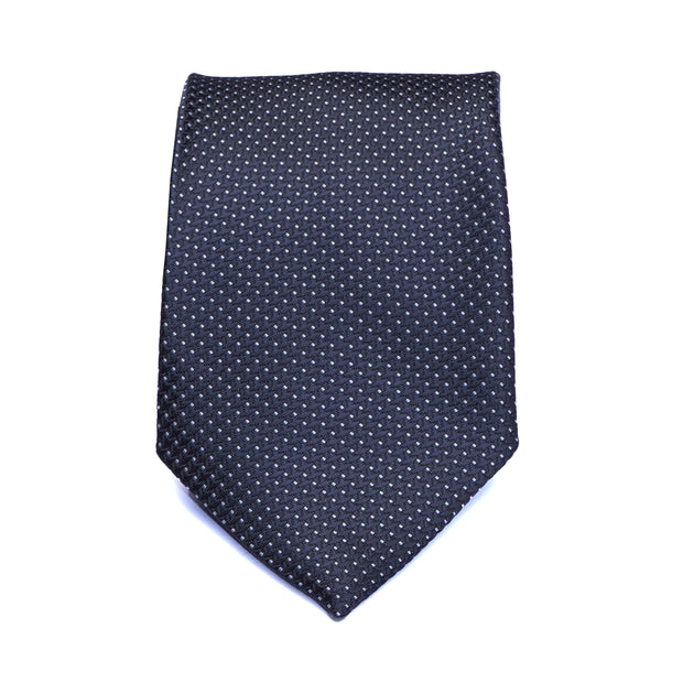 Monochrome Black Polka Dot Necktie
