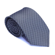 Old School Blue Geometric Necktie