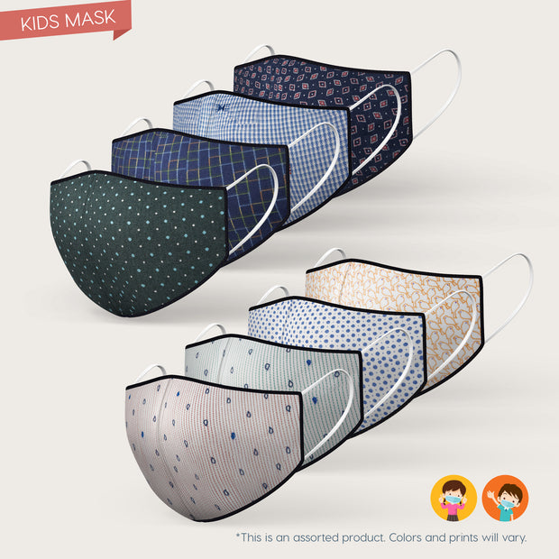 Kids 3 Layered Reusable Mask (Assorted)