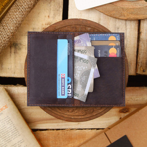 Journey Card & Cash Leather Wallet - Coffee