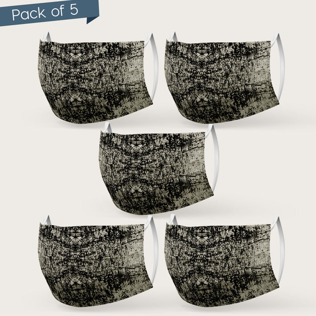 Double Layered Printed Cotton Mask (Pack of 3 or 5)