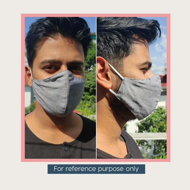3 Layered Printed Cotton Mask With Filter (Pack of 2, 3 or 5)