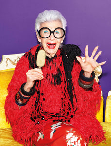 YOU WILL NEVER GUESS WHAT IRIS APFEL'S NEW ADVERTISING CAMPAIGN IS FOR