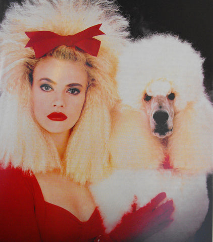 blonde with poodle
