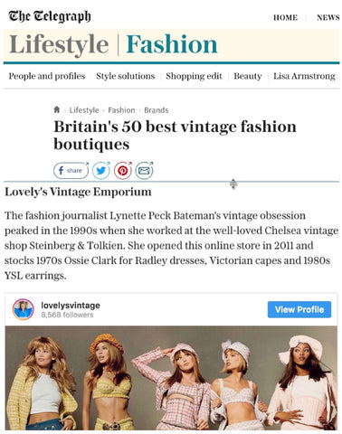 press coverage for Lovely's vintage boutique