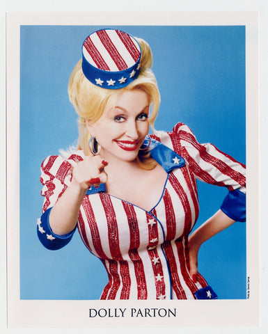 Dolly in her Uncle Sam costume