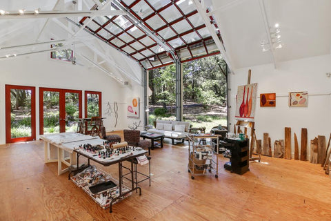 Robert Redford house art studio