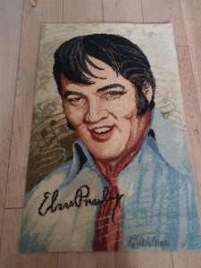 1970s AXMINSTER ELVIS PRESLEY RUG AND WALL HANGING
