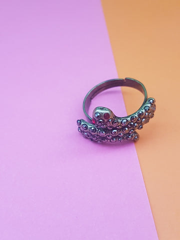 VINTAGE DIAMANTE SNAKE RING