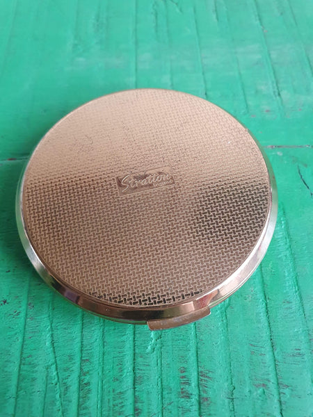 VINTAGE STRATTON CLOCK FACE POWDER COMPACT