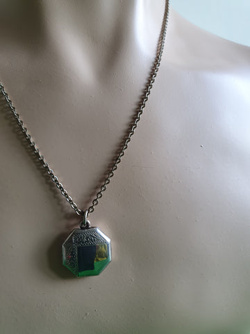 VINTAGE HALLMARKED SILVER PENDANT NECKLACE