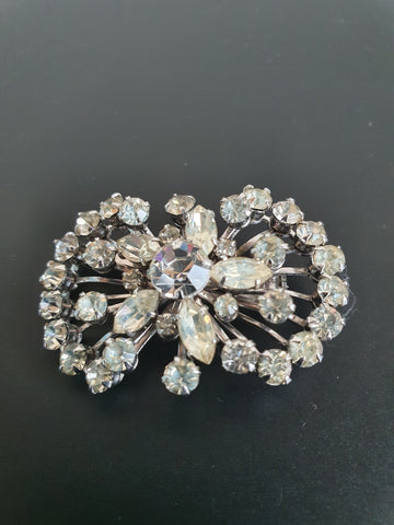 1960s VINTAGE LARGE DIAMANTES BROOCH