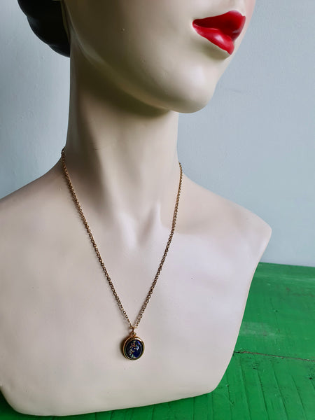 1970s BLUE CONSTELLATIONS PENDANT NECKLACE