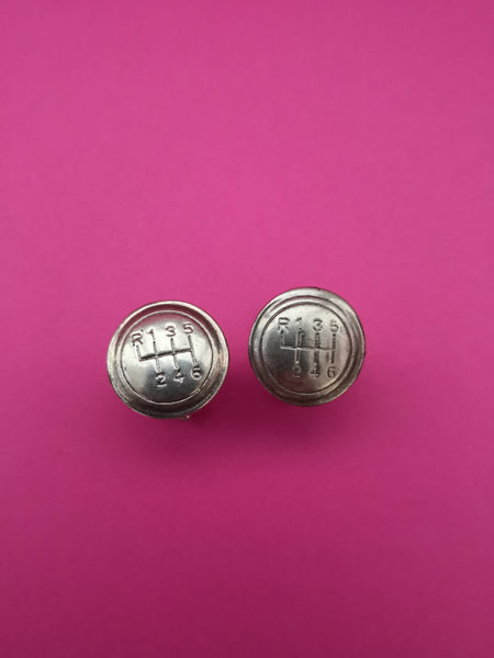 VINTAGE SILVER DRIVERS GEAR STICK CUFFLINKS