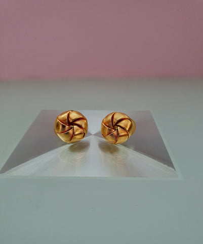 1980s GOLD KNOT EARRINGS FOR PIERCED EARS