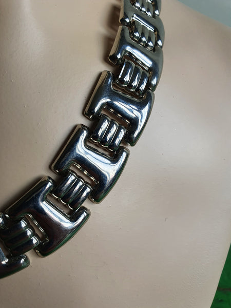 1970s SILVER LINKS NECKLACE