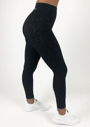 Bloom Legging - Black Leopard