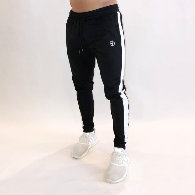 Striped Jogger - Black/White - Skywear