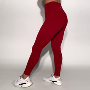 Mantra Scrunch Leggings - Crimson - Skywear
