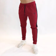Striped Jogger - Crimson/Black - Skywear
