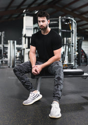Stretch Joggers - Black Camo